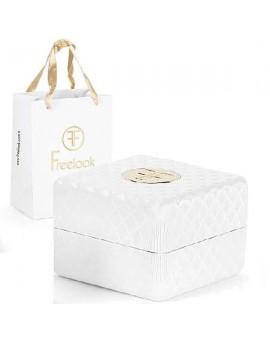 Montre Freelook femme.Bracelet cuir authentique.