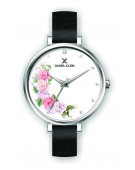 montre femme argent bracelet cuir noir