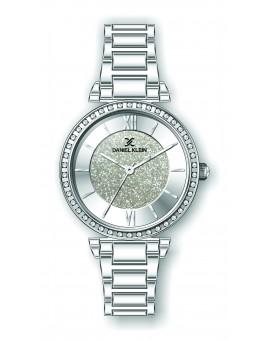 Montre Daniel Klein Femme bracelet acier argenté fond or rose