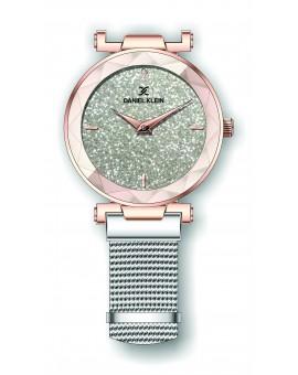Montre Daniel Klein Femme bracelet magnetique argenté fond argent