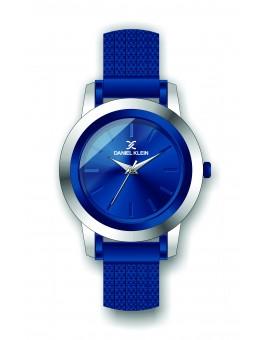 Montre Daniel Klein Femme bracelet milanais bleu fond bleu