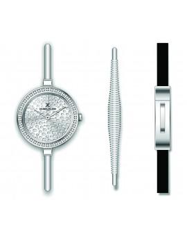 Coffret Daniel Klein Femme bracelet acier argenté fond argent
