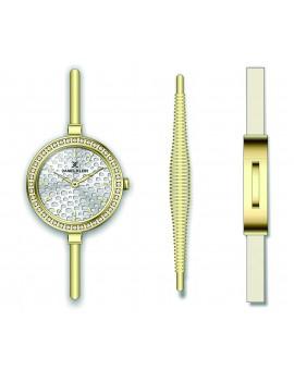 Coffret Daniel Klein Femme bracelet acier doré fond argent