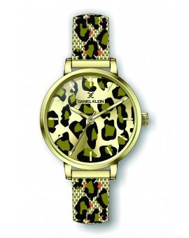 Montre Daniel Klein Femme bracelet milanais doré fond champagne