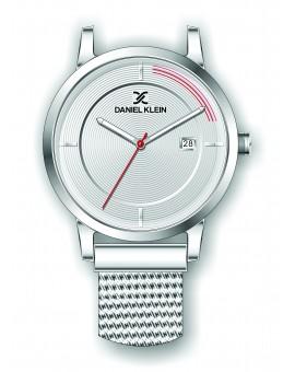 Montre Daniel Klein Homme bracelet magnetique argenté fond argent