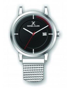 Montre Daniel Klein Homme bracelet magnetique argenté fond noir