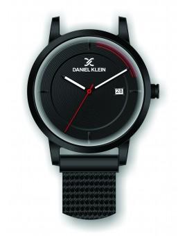 Montre Daniel Klein Homme bracelet magnetique noir fond noir