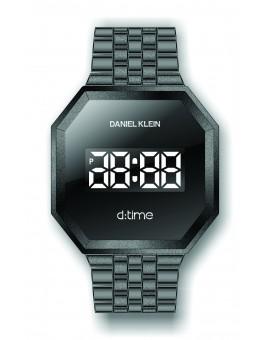 Montre Daniel Klein Homme D-TIME bracelet acier gris fond noir