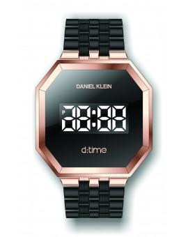 Montre Daniel Klein Homme D-TIME bracelet acier noir fond noir