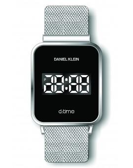Montre Daniel Klein Homme D-TIME bracelet magnetique argenté fond noir