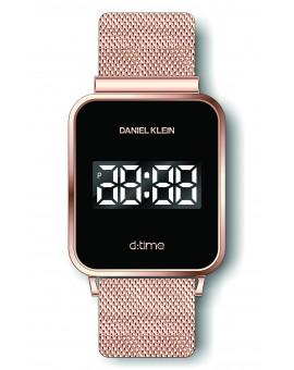 Montre Daniel Klein Homme D-TIME bracelet magnetique couleur or rose fond noir