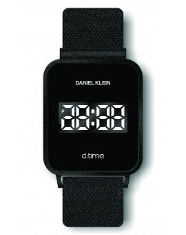 Montre Daniel Klein Homme D-TIME bracelet magnetique noir fond noir