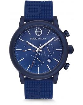 Montre Sergio Tacchini homme bracelet silicone bleu