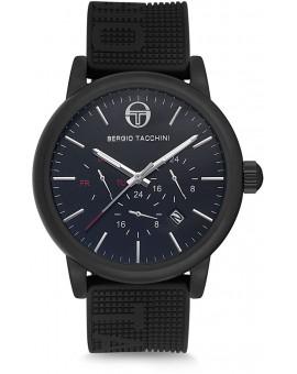 Montre Sergio Tacchini homme bracelet silicone noir