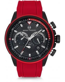 Montre Sergio Tacchini homme bracelet métal rouge