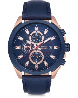 Montre Sergio Tacchini homme bracelet métal bleu