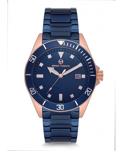 Montre Sergio Tacchini homme bracelet cuir bleu