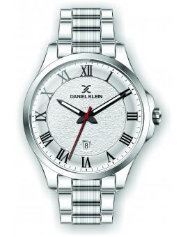 Montre Daniel Klein Homme bracelet acier argenté fond argent