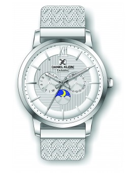 Montre Daniel Klein Homme exclusive bracelet milanais argenté fond argent