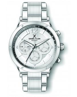 Montre Daniel Klein Homme exclusive bracelet acier argenté fond argent