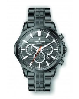 Montre Daniel Klein Homme exclusive bracelet acier noir fond gris