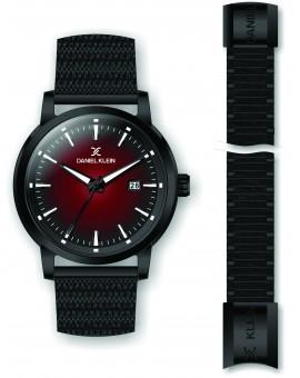 Coffret Daniel Klein Homme bracelet milanais noir fond noir