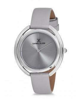 Montre Daniel Klein Femme bracelet cuir violet fond argent