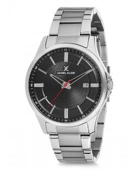 Montre Daniel Klein Homme bracelet acier argenté fond blanc
