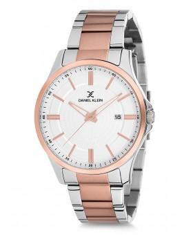 Montre Daniel Klein Homme bracelet acier rose fond blanc