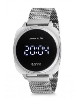 Montre Daniel Klein D-TIME bracelet milanais argenté tactile
