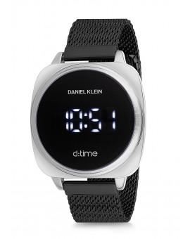 Montre Daniel Klein D-TIME bracelet milanais noir tactile