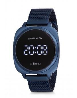 Montre Daniel Klein D-TIME bracelet milanais bleu tactile