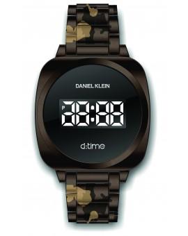 Montre Daniel Klein D-TIME bracelet acier marron tactile