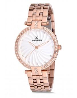 Montre Daniel Klein Femme bracelet acier rose fond argent