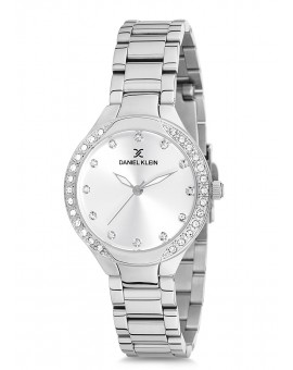 Montre Daniel Klein Femme bracelet acier argenté fond argent