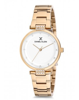 Montre Daniel Klein Femme bracelet acier doré fond argent