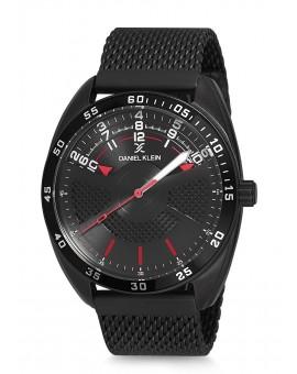 Montre Daniel Klein Homme bracelet milanais noir fond noir