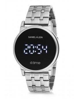 Montre Daniel Klein D-TIME bracelet acier argenté tactile