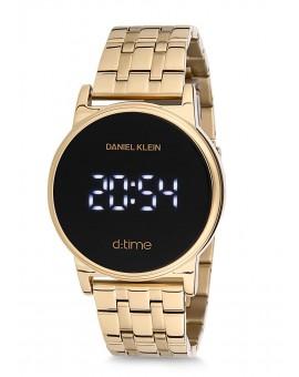 Montre Daniel Klein D-TIME bracelet acier doré tactile