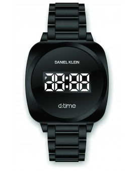 Montre Daniel Klein D-TIME bracelet acier noir tactile
