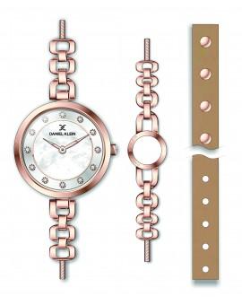 Montre Coffret Daniel Klein Femme bracelet acier rose fond argent