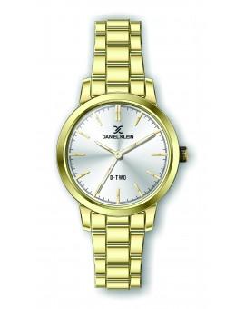 Montre Daniel klein D-TWO bracelet acier doré fond argent