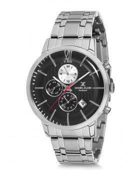 Montre Daniel Klein Homme Exclusive bracelet acier argenté fond blanc