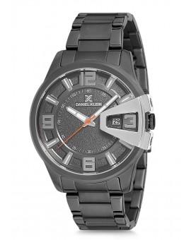 Montre Daniel Klein Homme bracelet acier noir fond argent