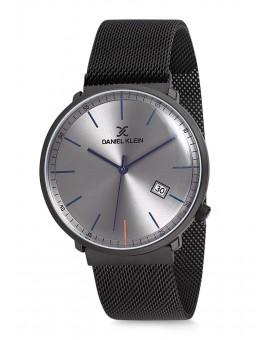 Montre Daniel Klein Homme bracelet magnetique noir fond argent