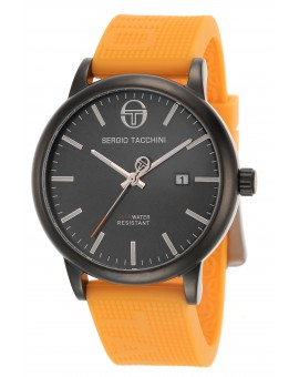 Montre Sergio Tacchini homme bracelet silicone orange