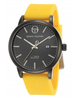 Montre Sergio Tacchini homme bracelet silicone jaune