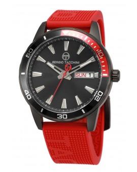 Montre Sergio Tacchini homme bracelet silicone rouge