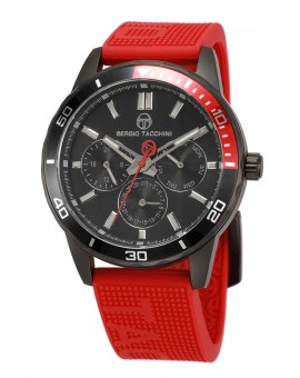 Montre Sergio Tacchini homme bracelet silicone rouge