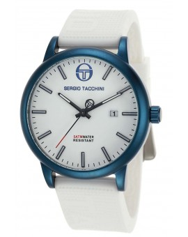 Montre Sergio Tacchini homme bracelet silicone blanc